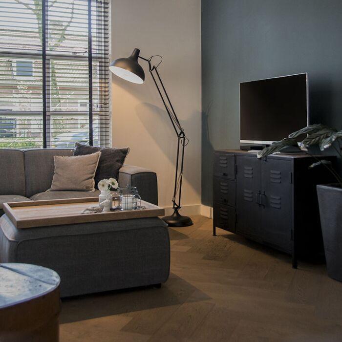 Industrial-floor-lamp-black-adjustable---Hobby