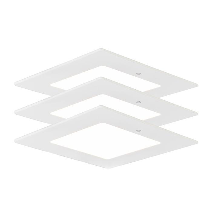 Set-of-3-Recessed-Radem-Square-6W
