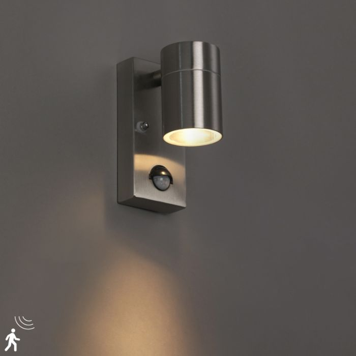 Exterior-wall-light-steel-IP44-with-motion-sensor---Solo
