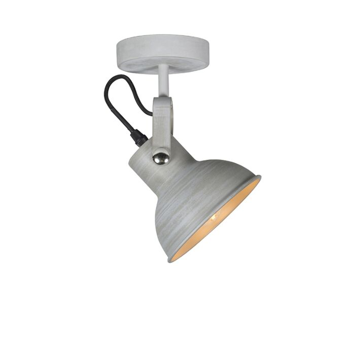 Industrial-wall-and-ceiling-lamp-gray-tiltable---Guida