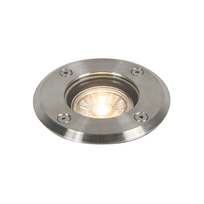 Outdoor-ground-spot-steel-11cm-IP67---Basic-Round