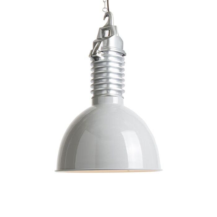 Industrial-hanging-lamp-with-light-gray-shade---Campa