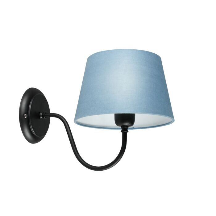 Wall-Lamp-Combi-Classic-Black-with-Blue-Shade