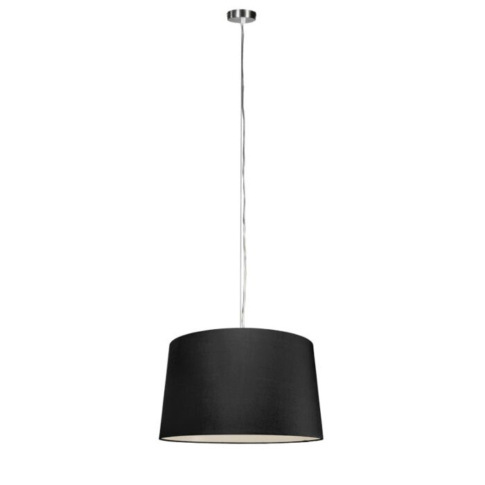 Modern-hanging-lamp-steel-with-shade-45-cm-black---Cappo-1
