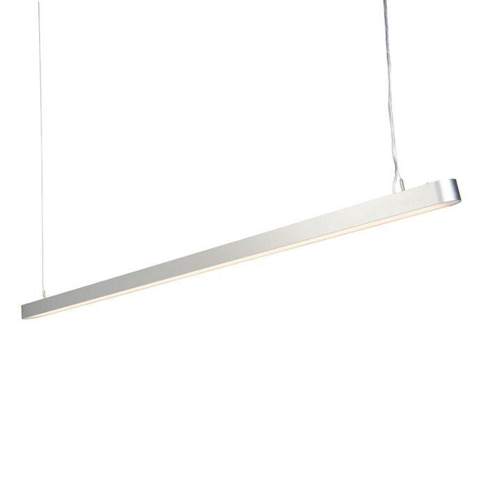 Modern-Pendant-Lamp-160cm-Silver-incl.-LED---Duct-R