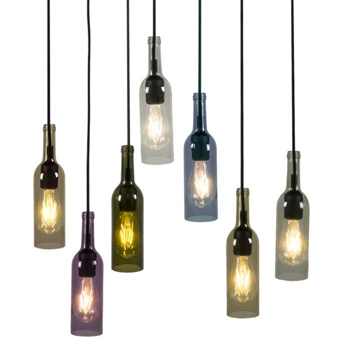 Set-of-7-Pendant-Lamps-Bottle