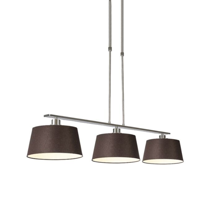 Modern-hanging-lamp-brown-steel-with-shade-35-cm---Combi-3-Deluxe