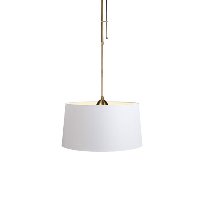 Pendant-Lamp-Mix-1-Bronze-with-Dimmer-Switch-and-White-Shade