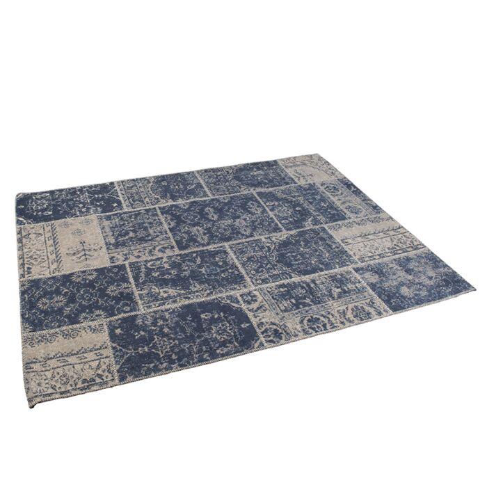 Vintage-Rug-Patch-Blue-160x230cm---Agra