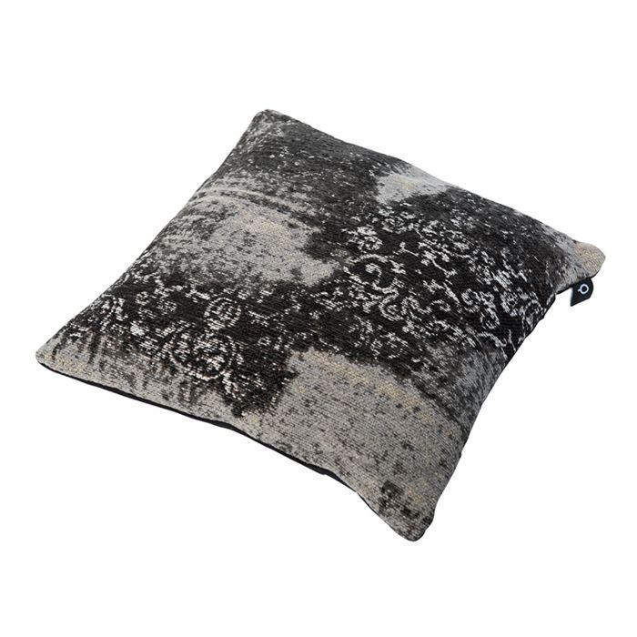 Vintage-Square-Pillow-Pattern-Black/Grey-45x45cm---Puri
