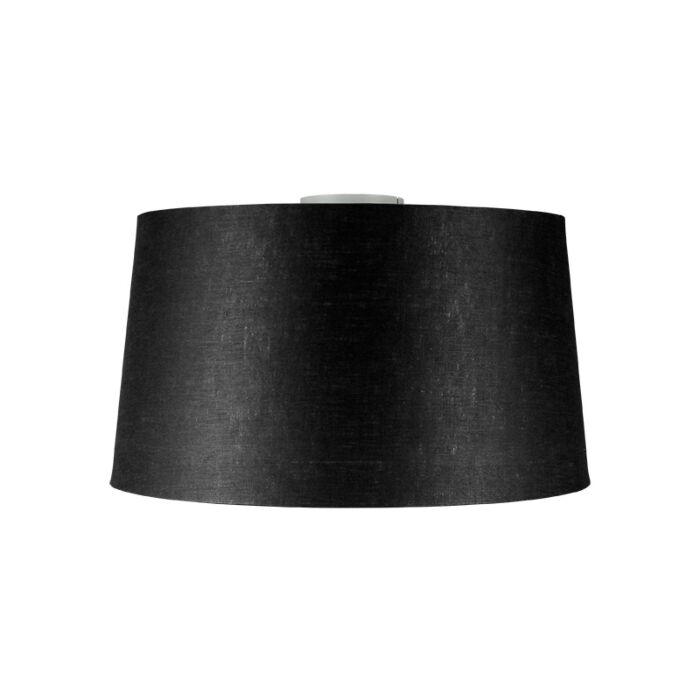 Modern-ceiling-lamp-matt-white-with-black-shade-45-cm---Combi