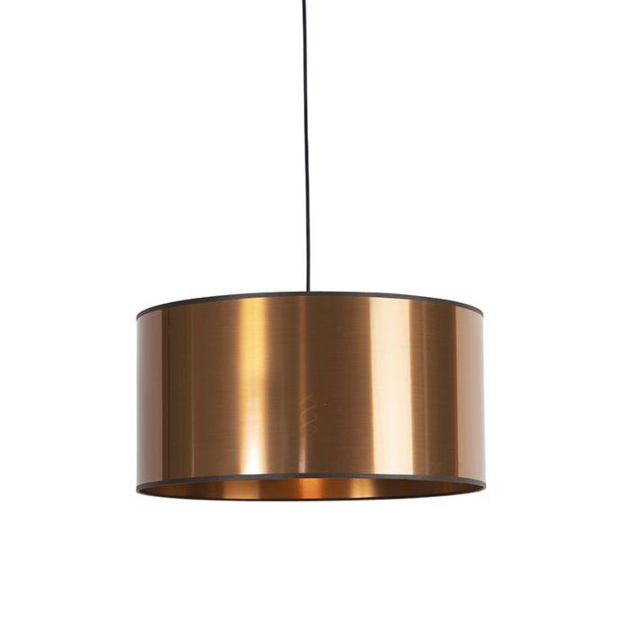 Design-hanging-lamp-black-with-copper-shade-50-cm---pendant