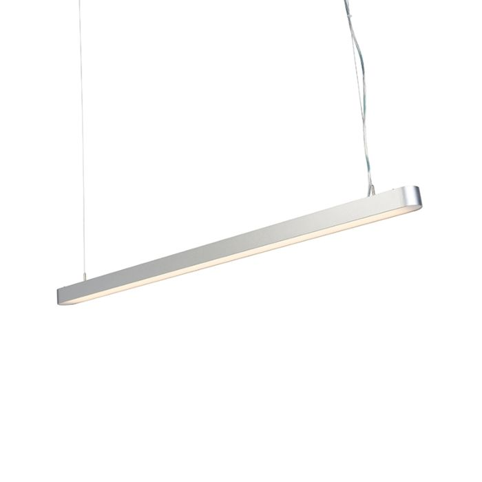 Modern-Pendant-Lamp-125cm-Silver-incl.-LED---Duct-R