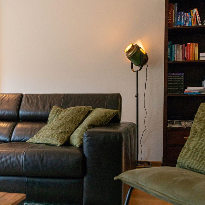 Industrial-floor-lamp-bronze-with-green-140-cm---Byron