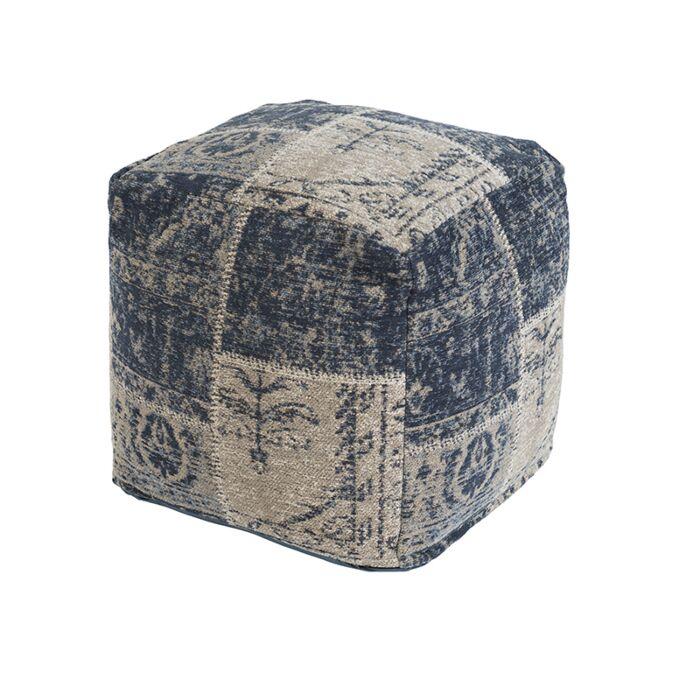 Vintage-Square-Patch-Ottoman-Blue-45x45x45cm---Agra