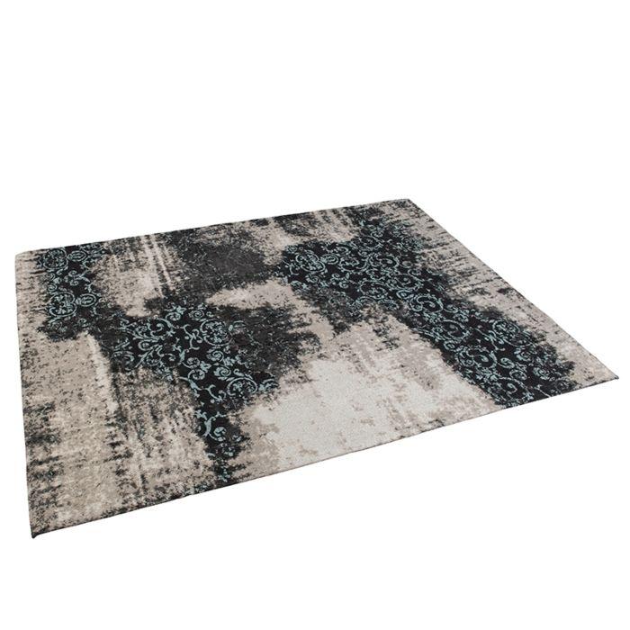 Vintage-Rug-Pattern-Black/Beige/Turqouise-160x230cm---Puri