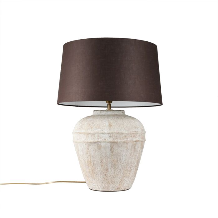 Table-Lamp-Arta-Small-Scotch-with-Brown-Grey-Shade