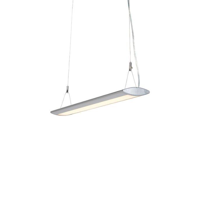 Modern-Pendant-Lamp-65cm-Silver-incl.-LED---Duct-O