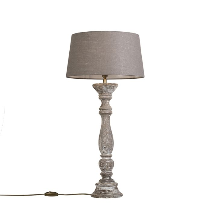 Table-Lamp-Ritual-White-with-Shade-35cm-Antique-Grey