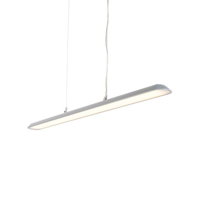 Modern-Pendant-Lamp-130cm-Silver-incl.-LED---Duct-S