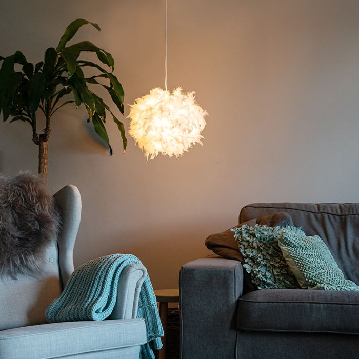 Country-hanging-lamp-white---Feather