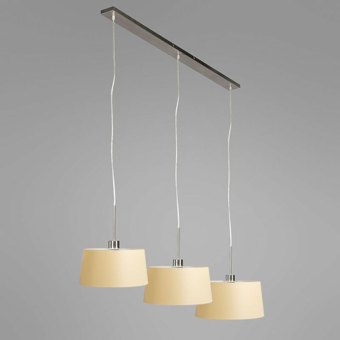 Pendant-Lamp-Combi-3-Steel-with-Cream-Shades