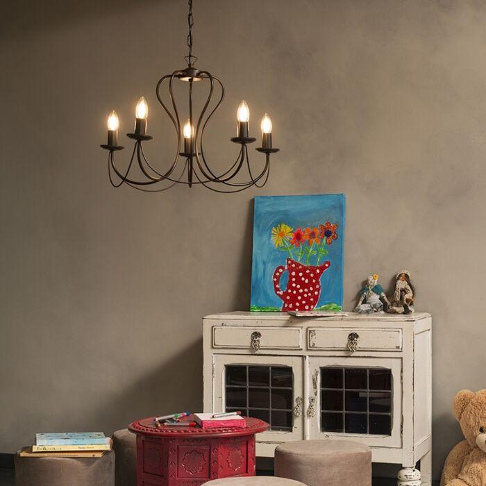 Classic-chandelier-rust-brown---Como-5