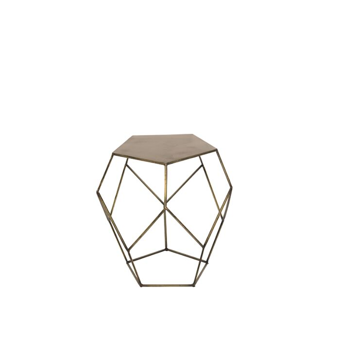 Side-Table-Pentagon-Aged-Brass