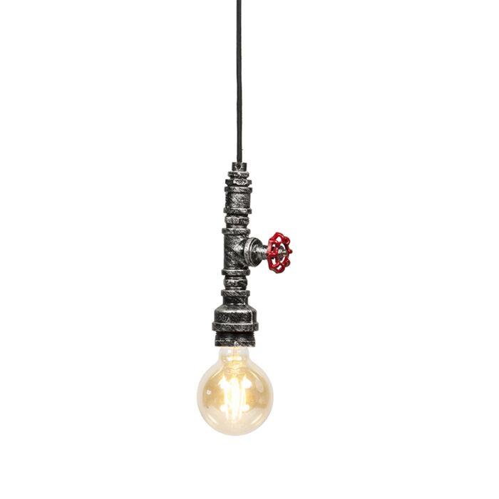 Industrial-hanging-lamp-black-silver---Obo