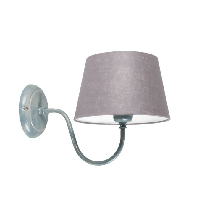 Wall-Lamp-Combi-Classic-Grey-with-Light-Grey-Shade