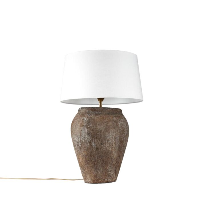 Table-Lamp-Blava-Oval-Vintage-with-White-Shade