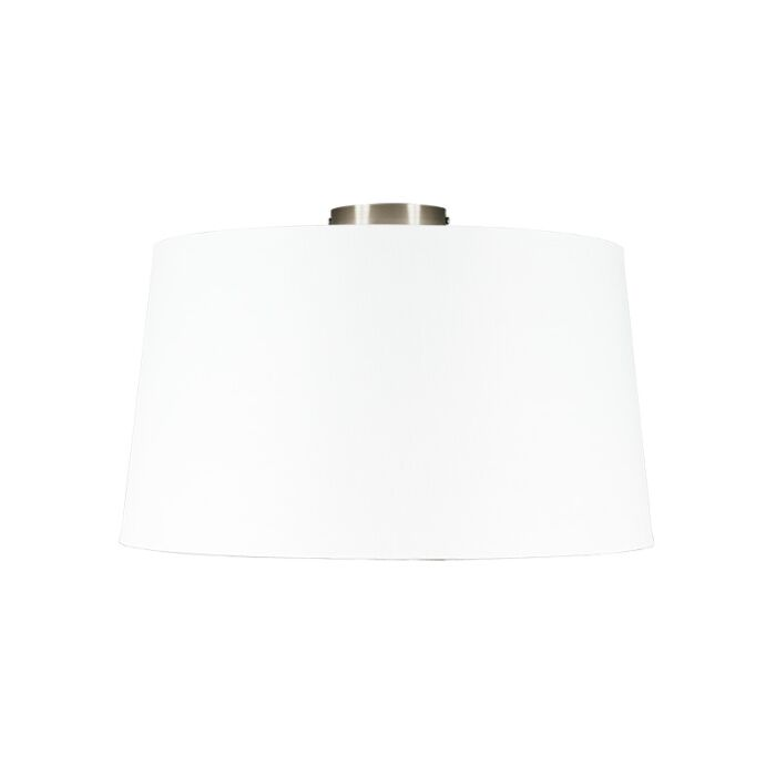 Modern-ceiling-lamp-steel-with-white-shade-45-cm---Combi