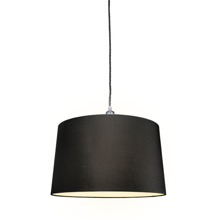 Pendant-Lamp-Cavo-Classic-Chrome-Black-with-45cm-Black-Shade