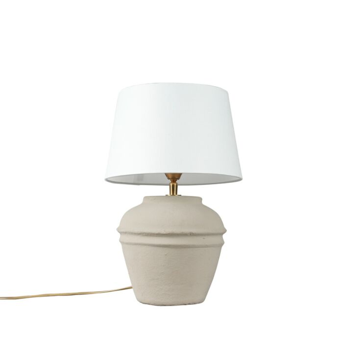 Table-Lamp-Arta-XS-Grey-with-White-Shade