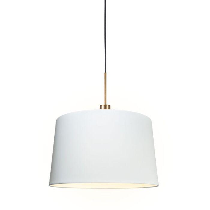 Modern-hanging-lamp-bronze-with-shade-45-cm-white---Combi-1