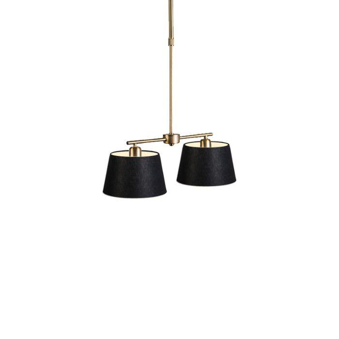 Pendant-Lamp-Mix-2-Bronze-with-Black-20cm-Shade