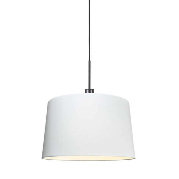 Modern-hanging-lamp-black-with-shade-45-cm-white---Combi-1