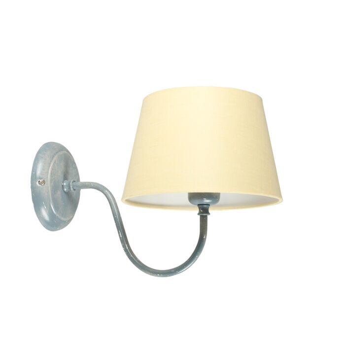 Wall-Lamp-Combi-Classic-Grey-with-Cream-Shade