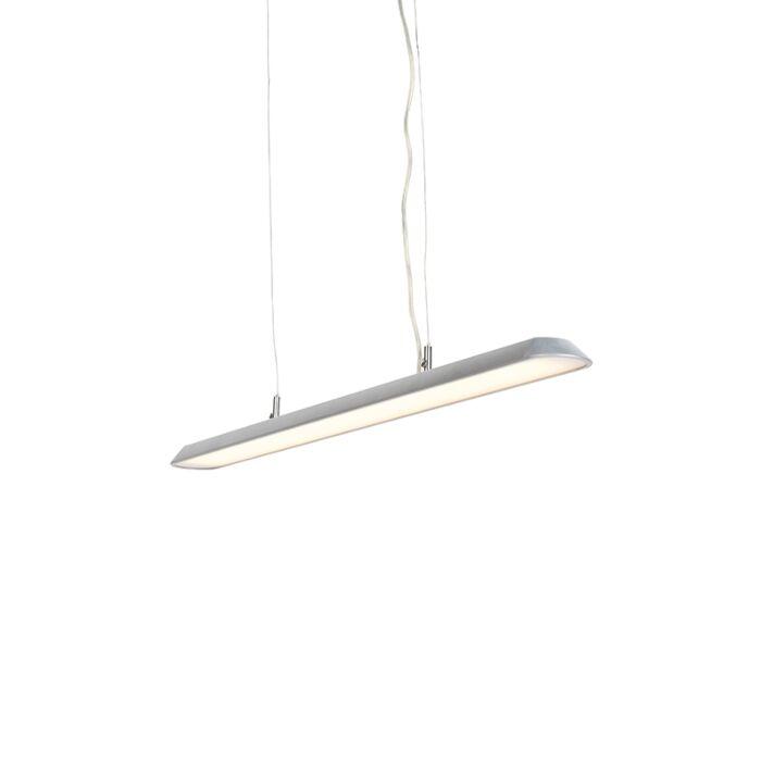 Modern-Pendant-Lamp-100cm-Silver-incl.-LED---Duct-S