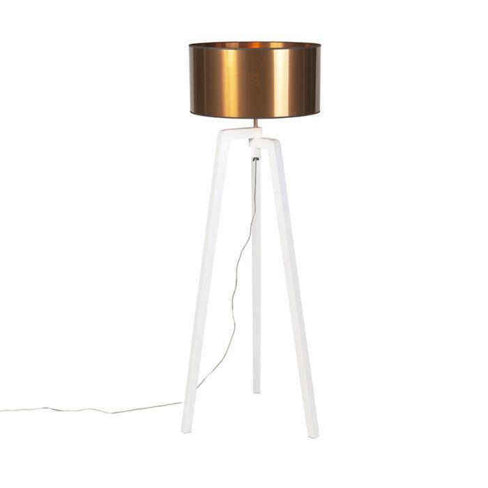 Design-floor-lamp-white-with-shade-copper-50-cm---Puros