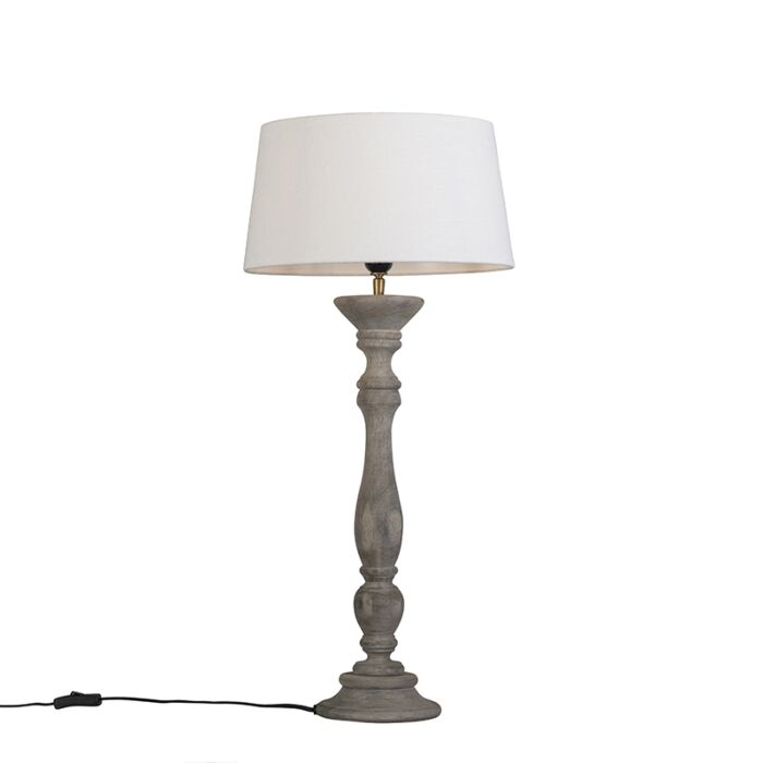 Table-Lamp-Ritual-Grey-with-Shade-35cm-White