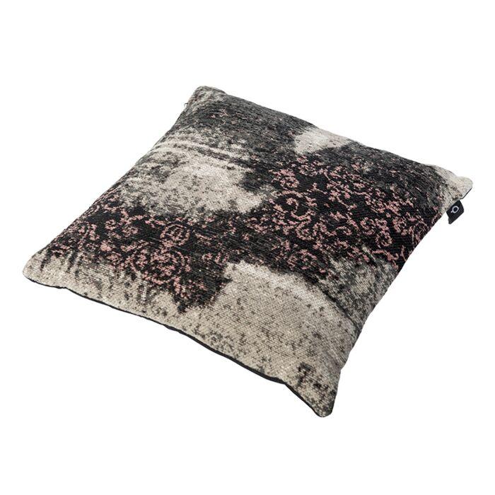 Vintage-Square-Pillow-Pattern-Black/Beige/Pink-45x45cm---Puri