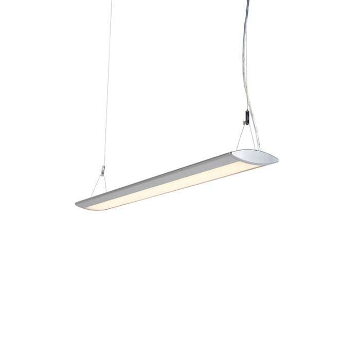 Modern-Pendant-Lamp-95cm-Silver-incl.-LED---Duct-O