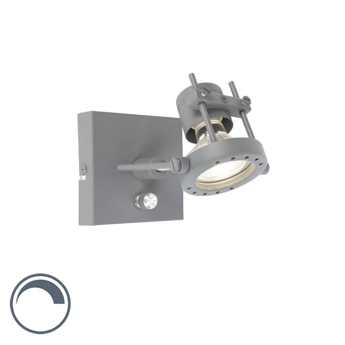 Wall-Lamp-Suplux-1-Dark-Grey-with-DImmer-Switch