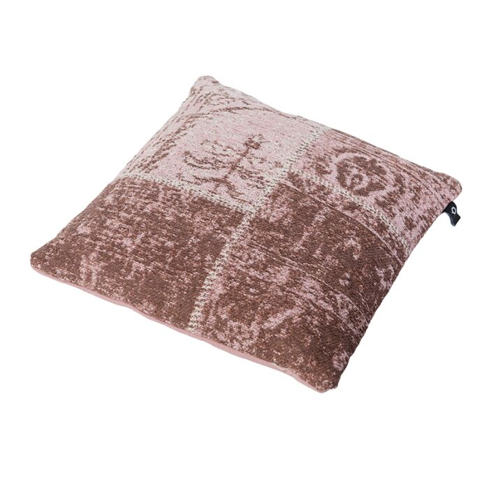 Vintage-Square-Patch-Pillow-Faded-Pink-45x45cm---Agra