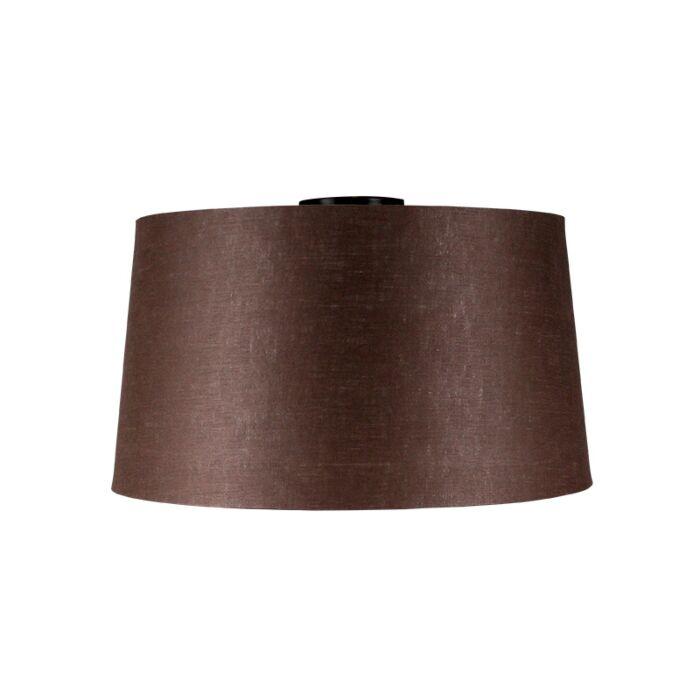 Ceiling-lamp-matt-black-with-brown-shade-45-cm---Combi