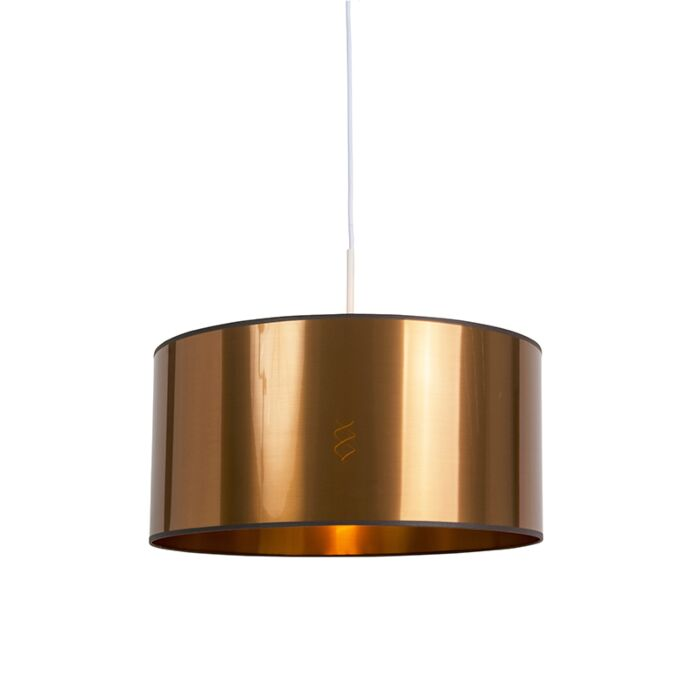 Modern-Pendant-Lamp-White-with-50cm-Copper-Shade---Combi-1