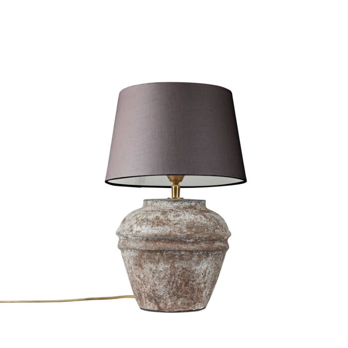 Table-Lamp-Arta-XS-Vintage-with-Brown-Grey-Shade