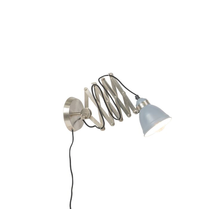 Industrial-wall-scissor-lamp-steel-tellable---Avera
