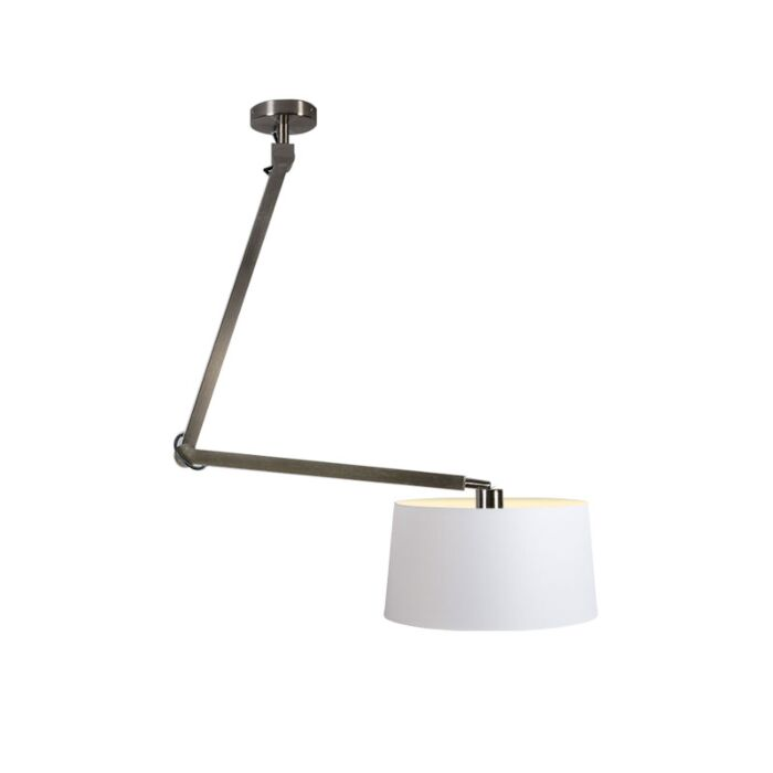 Pendant-Lamp-Accio-Steel-with-White-Shade